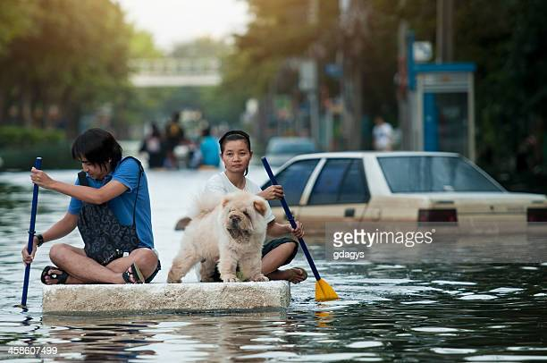 bangkok flood 2011 - flooding stock photos and pictures