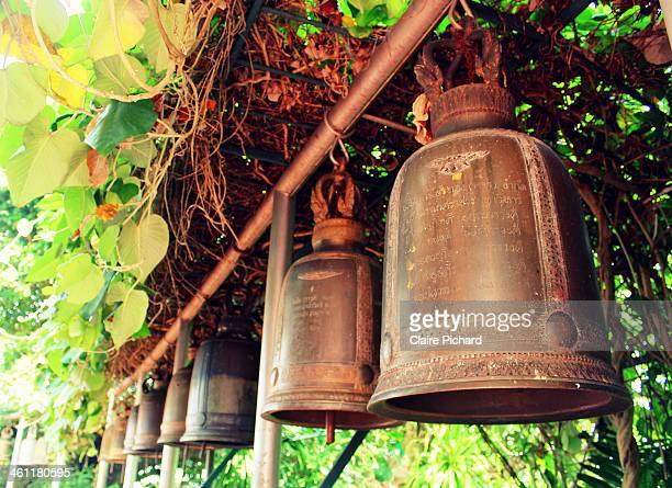 Bangkok Golden Mountain Thailand Bell Boudhism Religion