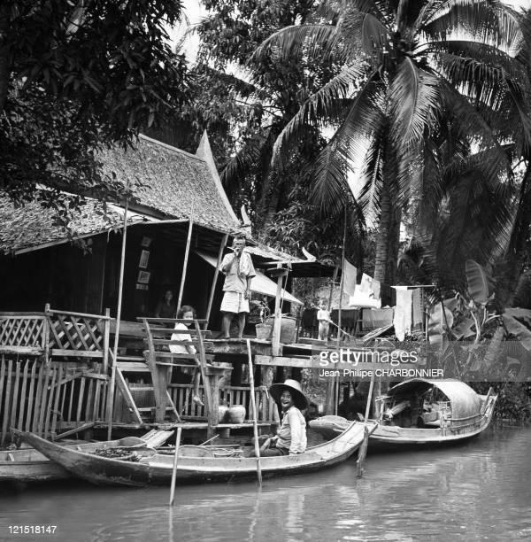 Bangkok Housing On The Klong In The 1950'S