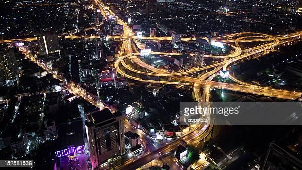 bangkok metropolis skyview - lifeispixels stock pictures, royalty-free photos & images