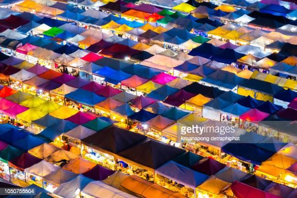 bangkok night market in thailand, date: 10/07/2018 18:18:08 - bangkok stock pictures, royalty-free photos & images
