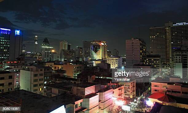 bangkok night view - yasir nisar stock photos and pictures