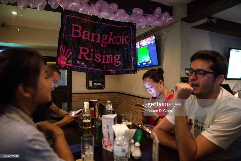 Bangkok Rising, a group in Bangkok which aims to bring attention to gender issues and discrimination, gathers to celebrate Women's Day on March 8, 2017 in Bangkok, Thailand. International Women's Day was first marked in 1911 and celebrated each year on 08 March with thousands of events around the world by women's networks.