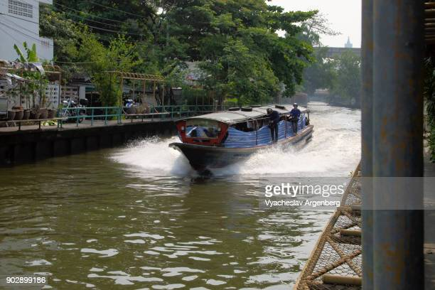 bangkok river boat taxi - www images com stock photos and pictures
