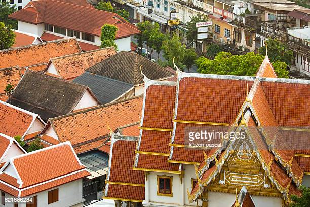 Bangkok, Roof of the temples in day 2016