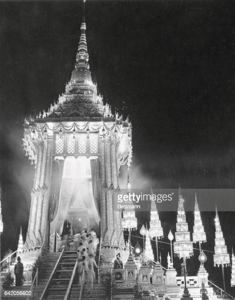 Cremation Of Siam's King A view of the cremation ceremonies of former King Ananda of Thailand at Bangkok last week when the body of the young king...