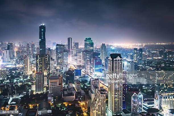 Bangkok Skyline at Night
