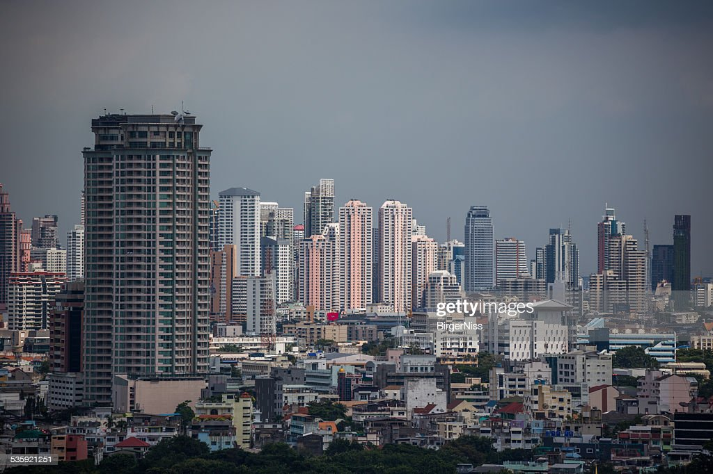Bangkok skyline, Thailand : Stock Photo