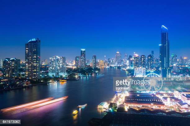 Bangkok skyline with landmark