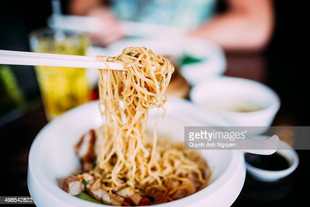 Bangkok, Thailand. Asian cuisine - Hongkong noodles with pork