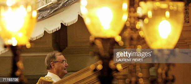 Danish Prince Consort Henrik arrives at the Grand Palace in Bangkok, 13 June 2006 for the official banquet. Royalty from across Asia, Europe, the...