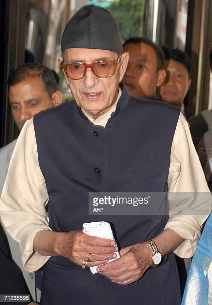 Nepal's ailing Prime Minister Girija Prasad Koirala arrives for medical treatment at a hospital in Bangkok 19 June 2006 The 84yearold prime minister...