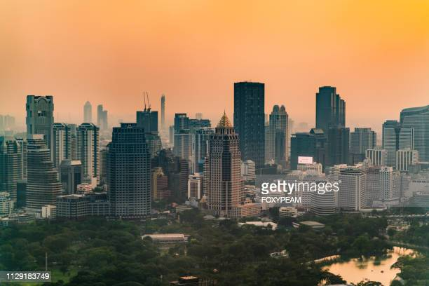 bangkok with pollution - 2010 2019 stock pictures, royalty-free photos & images