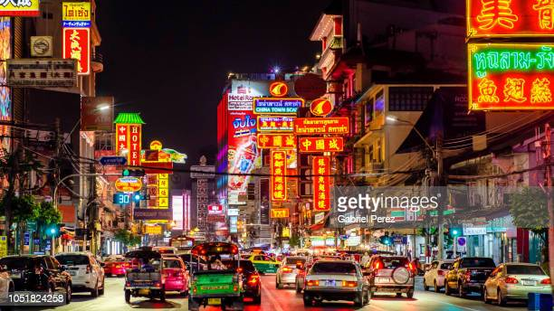 bangkok's chinatown - chinatown stock pictures, royalty-free photos & images