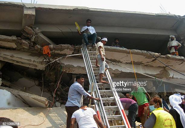 SAVAR Bangladesh A rescue operation is under way on April 26 at the site of a fatal collapse two days ago of the eightstory Rana Plaza building in...
