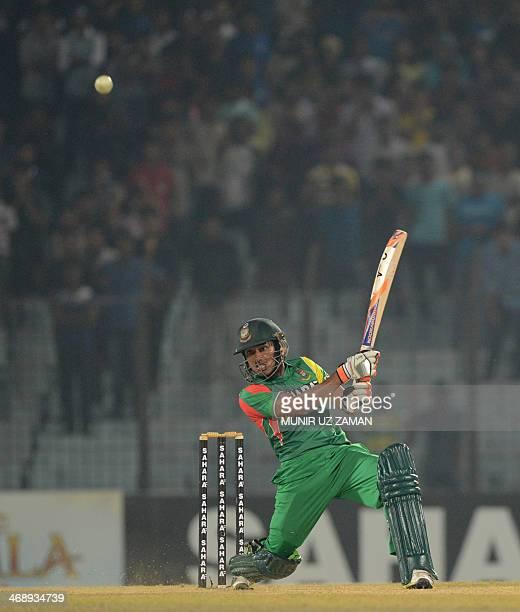 Bangladesh batsman Anamul Haque plays a shot during the first Twenty20 cricket match between Bangladesh and Sri Lanka at The Zahur Ahmed Chowdhury...