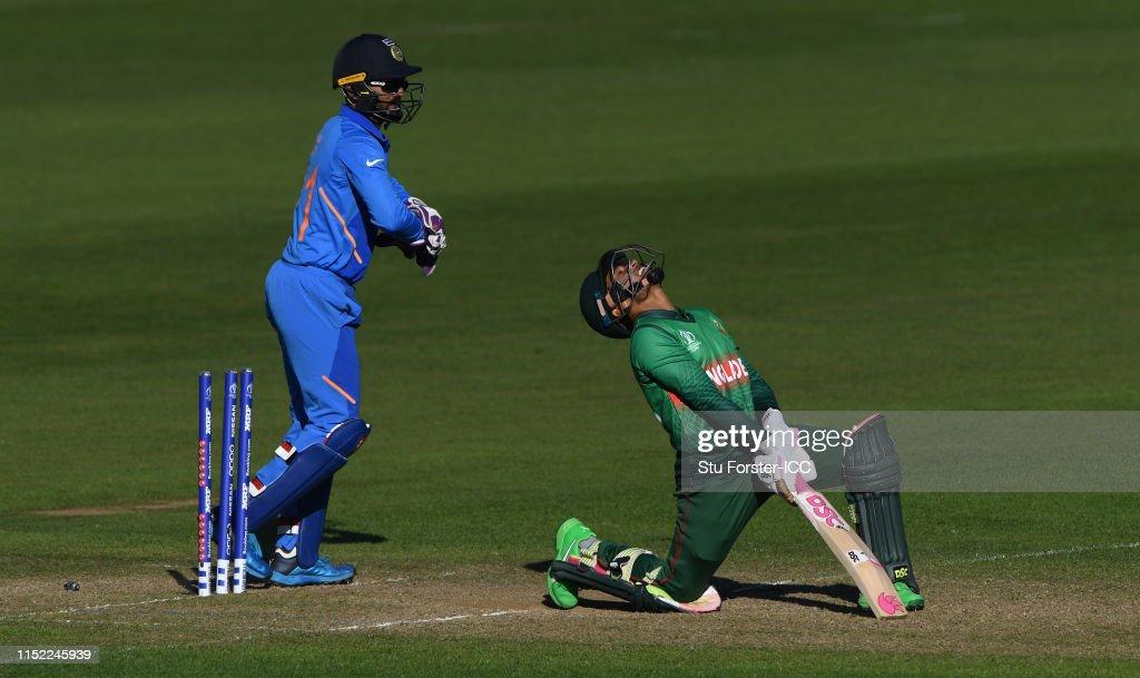 Bangladesh v India – ICC Cricket World Cup 2019 Warm Up : News Photo