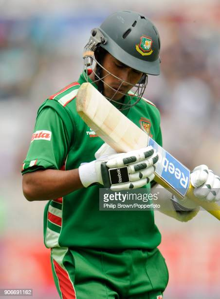 Bangladesh captain Mohammad Ashraful leaves the field after being dismissed for 14 runs in the ICC World Twenty20 group match between Bangladesh and...