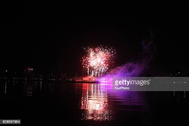 Bangladesh celebrates fireworks at Hatirjheel as the countrys electricity generation capacity touches a new milestone of 15,000 MW, in Dhaka,...