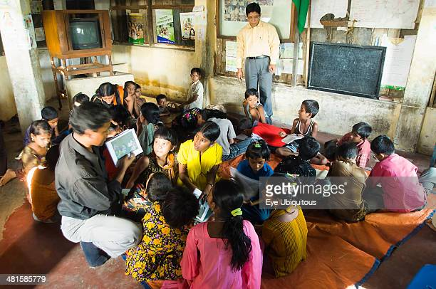 Bangladesh Chittagong Street children learning in a centre run by an NGO charity