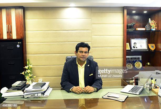 Bangladesh Cricket Board Chief executive Nizamuddin Chowdhury poses for a photograph after a interview with AFP in Dhaka on November 18 2015 Mohammad...