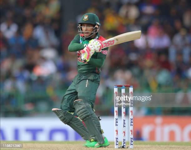 Bangladesh cricketer Mushfiqur Rahim plays a shot during the 2nd One Day International cricket match between Sri Lanka and Bangladesh at R Premadasa...
