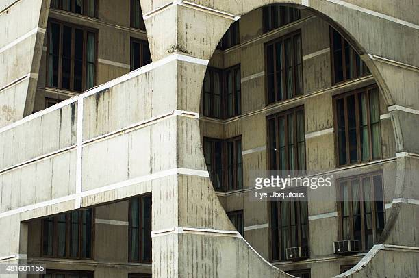 Bangladesh Dhaka National Assembly building designed by Louis Kahn using innovative concrete and geometric design