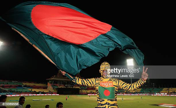 Bangladesh fan show his support towards his team during the ICC World Twenty20 India 2016 match between Bangladesh and Oman at the HPCA Stadium on...