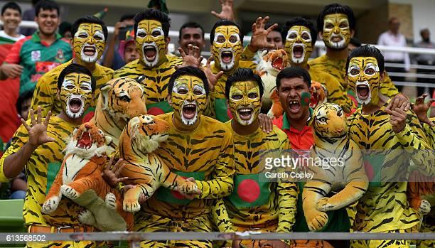 Bangladesh fans during the 2nd One Day International match between Bangladesh and England at ShereBangla National Cricket Stadium on October 9 2016...