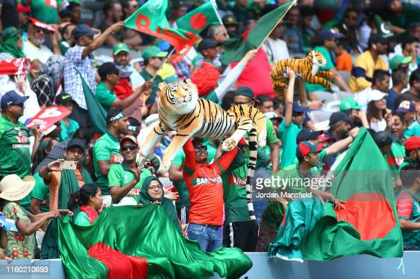 Bangladesh fans react in the crowd during the Group Stage match of the ICC Cricket World Cup 2019 between Pakistan and Bangladesh at Lords on July...