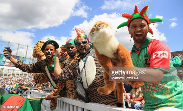 Bangladesh fans show their support during the ICC Champions Trophy match between England and Bangladesh at The Kia Oval on June 1 2017 in London...