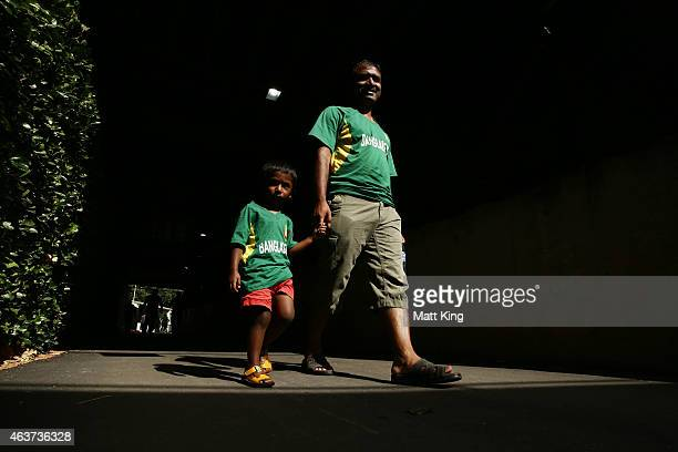 Bangladesh fans walk through the venue during the 2015 ICC Cricket World Cup match between Bangladesh and Afghanistan at Manuka Oval on February 18...