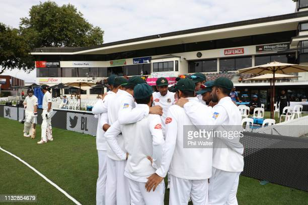 Bangladesh group togeather before day two of the First Test match in the series between New Zealand and Bangladesh at Seddon Park on March 01 2019 in...