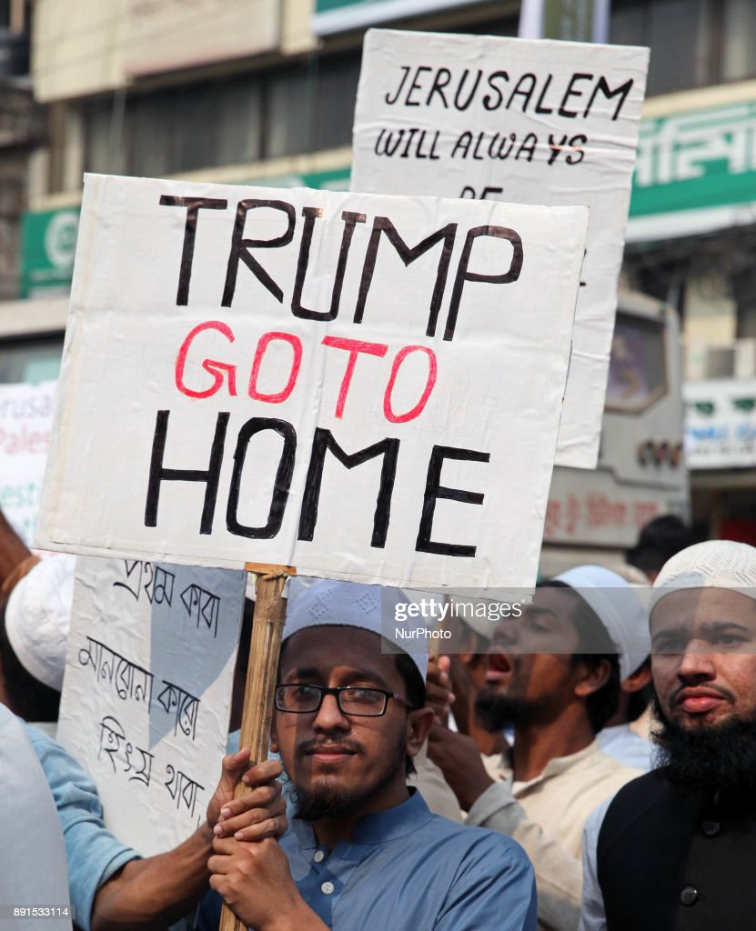 Protest in Bangladesh against US recognition of Jerusalem as capital of Israel