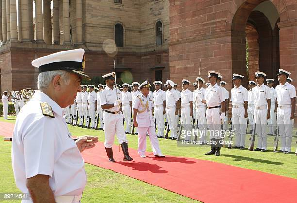 Bangladesh Navy Chief Rear Admiral Zahir Uddin Ahmed who is in India on a weeklong visit was presented a guard of honour on July 23 2009 in Delhi...