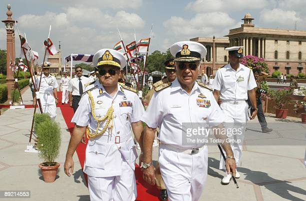 Bangladesh Navy Chief Rear Admiral Zahir Uddin Ahmed with Indian Navy Chief Sureesh Mehta who is in India on a weeklong visit was presented a guard...