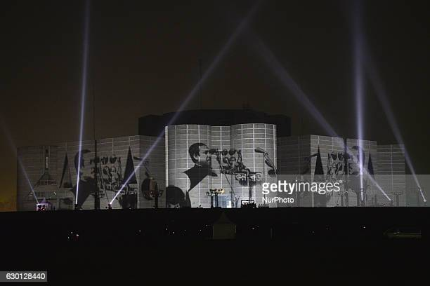 Bangladesh Planning Ministry organized a 3D wall projection on the Parliament House during the Victory Day in Dhaka Bangladesh On December 16 2016...