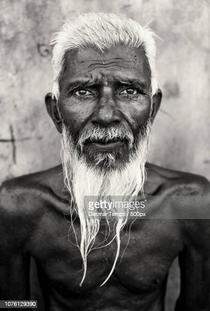 bangladesh, portrait of an old man - dietmar temps stock photos and pictures