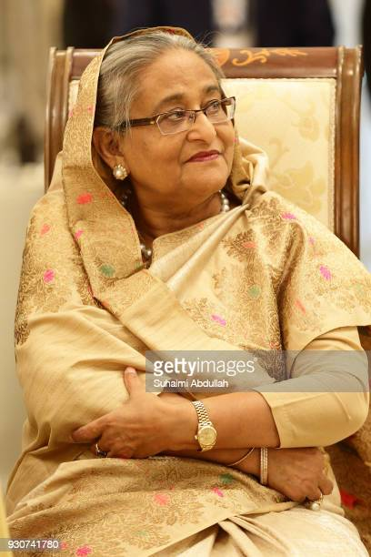 Bangladesh Prime Minister Sheikh Hasina attends the official lunch function hosted by Singapore Prime Minister Lee Hsien Loong at the Istana on March...