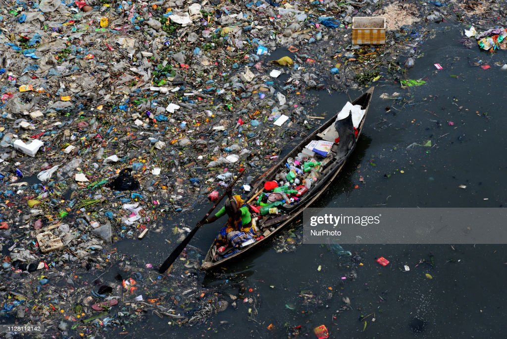 Plastic Pollution Of River In Dhaka : News Photo