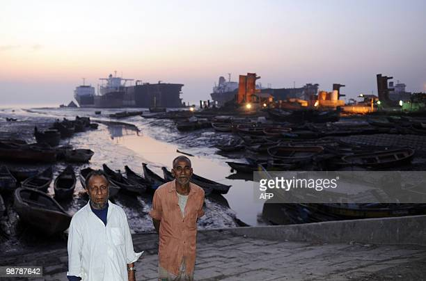 Bangladeshenvironmentshipping FEATURE by Shafiq Alam Abul Kalam poses for a photo at a shipbreaking yard in Sitakundu some 30 kms from the port city...