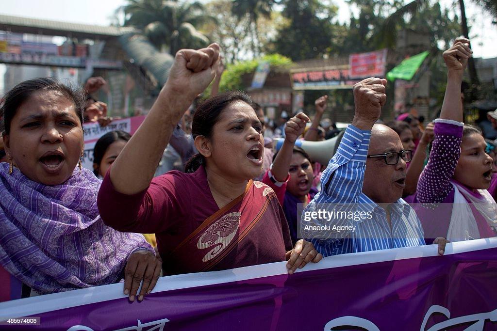 International Women's day celebration in Dhaka : News Photo