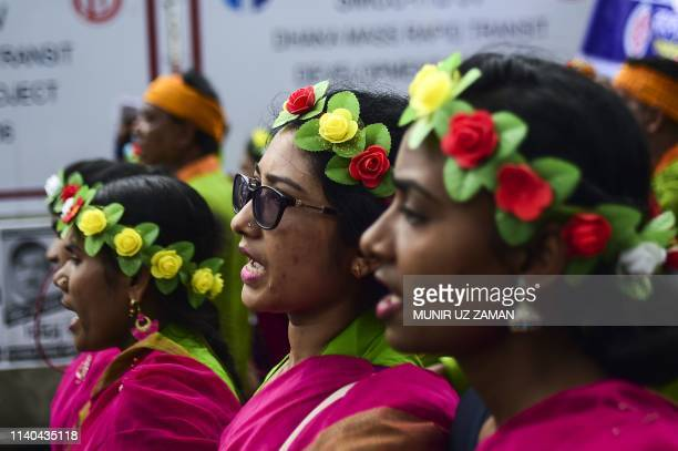 Bangladeshi activists and workers take part in a May Day or International Workers' Day protest in Dhaka on May 1 2019 Activists around the world mark...