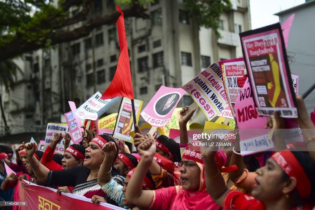 BANGLADESH-MAY DAY-PROTEST : News Photo