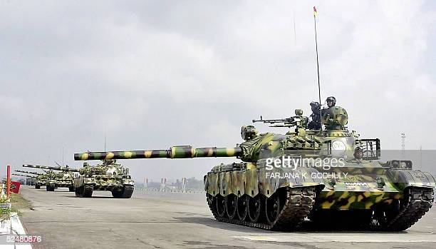 Bangladeshi Army's T69 tanks parade during the celebrations of the country's 35th Independence Day in Dhaka 26 March 2005 Bangladesh became...
