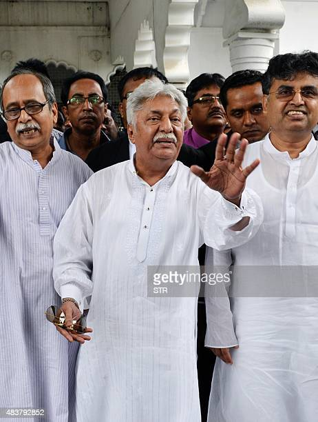 Bangladeshi editor and publisher of national newspaper The Daily Janakantha Atiqullah Khan Masud appears in court in Dhaka on August on 13 2015...