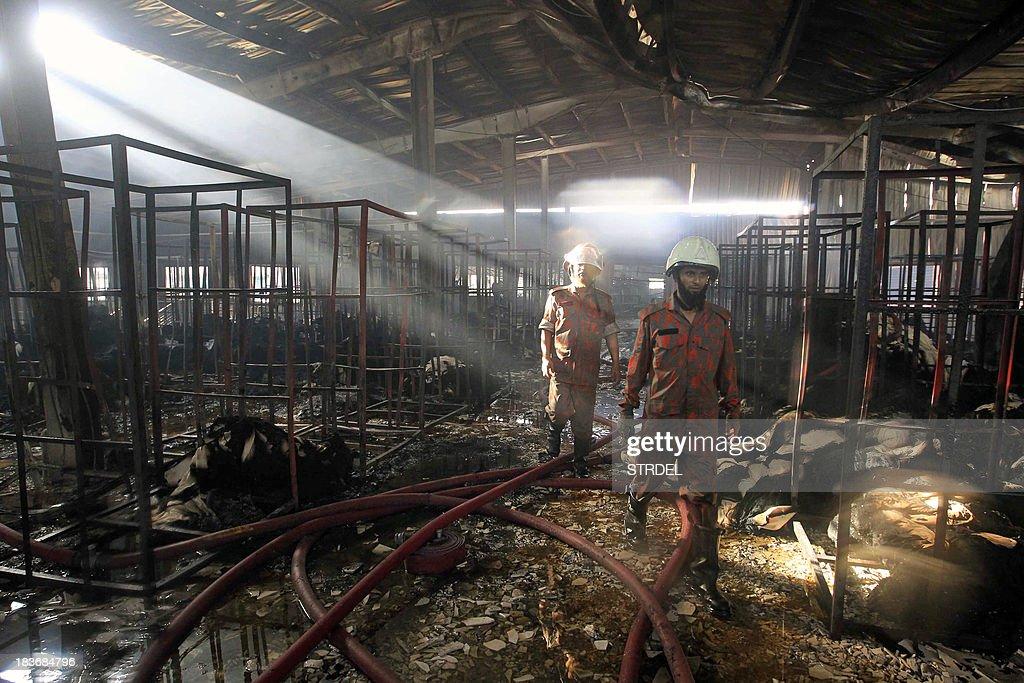 BANGLADESH-TEXTILE-FIRE : News Photo