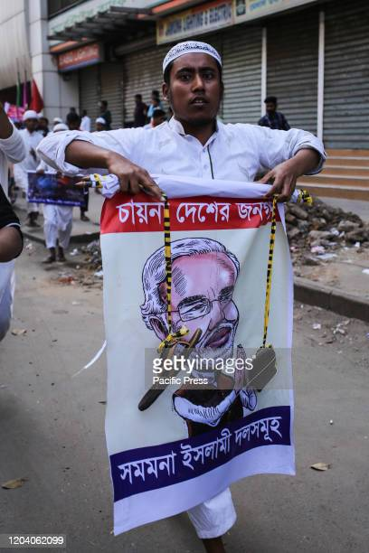 Bangladeshi Islamic party alliance demonstrate during a rally against the recent violence in India following the controversial citizenship law in...
