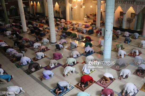 Bangladeshi Muslims offered their Jumma Prayers by maintaining social distancing and following the governments health advice They were allowed to...