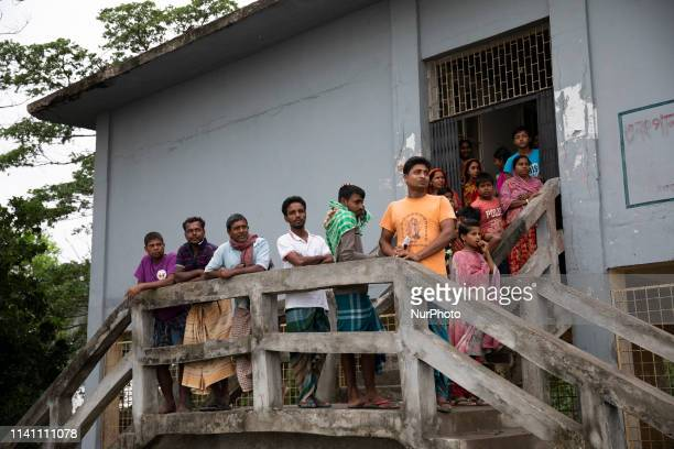 Bangladeshi people waits in front of a cyclone center in Khulna Pan Khali on May 4 as Cyclone Fani reached Bangladesh Cyclone Fani one of the biggest...